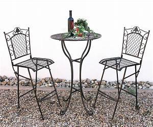 Barhocker Tisch Set : stehtisch und 2 barhocker set 20832 33 bartisch schmiedeeisen metall hocker rund ebay ~ Whattoseeinmadrid.com Haus und Dekorationen