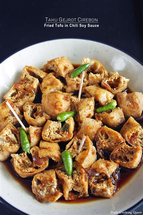 tahu gejrot cirebon fried tofu  chili soy sauce