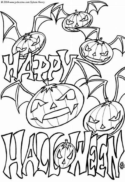 Coloring Halloween Pages Printable Scary Pumpkin