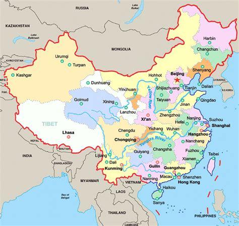 china city map map  china cities printable china city map