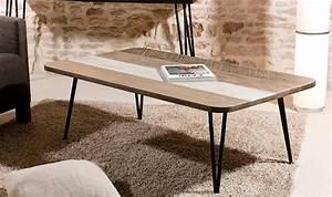 Mobilier Bois Design : table basse scandinave en bois massif et m tal ~ Melissatoandfro.com Idées de Décoration