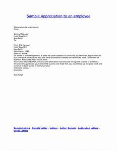 best photos of appreciation letter to employee for hard With employee recognition letter format