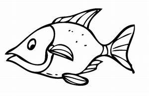 Kostenlose Malvorlage Tiere Mrrischer Fisch Zum Ausmalen