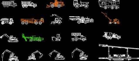 library  construction vehicles   autocad cad