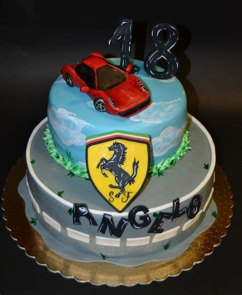 torte  appassionati  auto sportive cakemania dolci