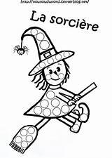 Halloween Sorciere Sur Gommettes Pour Playmais Coloriage Son Balai Blanc Templates Gomets Moldes Printable Coloring sketch template