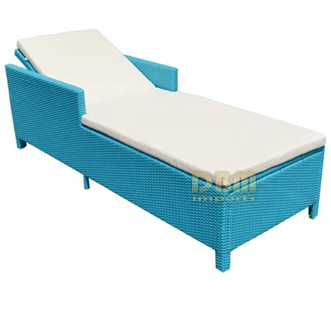 chaise turquoise turquoise 1 person sunbed wicker rattan outdoor patio