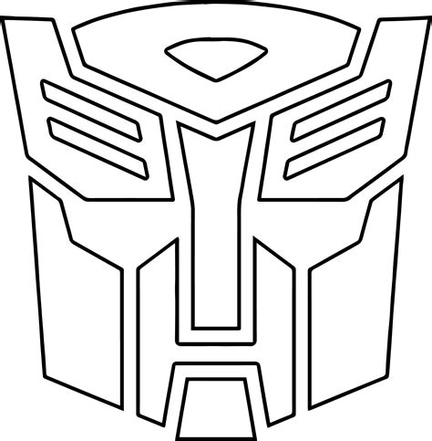 transformer logo coloring pages  print coloring