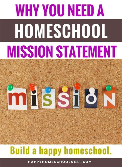 Why You Need A Homeschool Mission Statement  Homeschool
