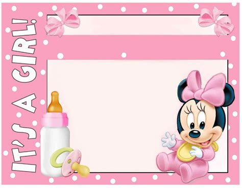 minnie mouse baby shower invitation  images minnie