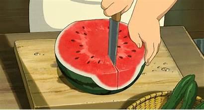 Fruit Anime Fruits Gifs Watermelon Satisfying Scenery