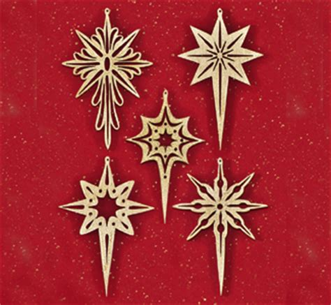 indoor christmas shining star scroll saw ornaments pattern