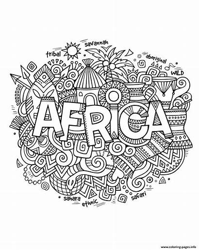 Coloring Africa Symbols Abstract Adult Pages Printable