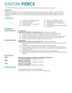 Finance Resume Templates Social Services Cv Exles Cv Templates Livecareer