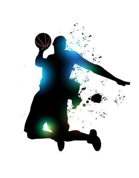 deco basketball chambre abstract basketball player vector background basketball