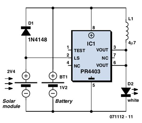 solar l using the pr4403 circuits projects