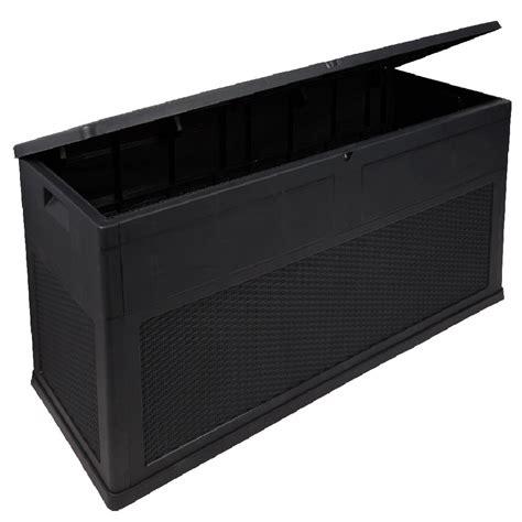 coffre 320 l noir coffre de jardin mobilier de jardin