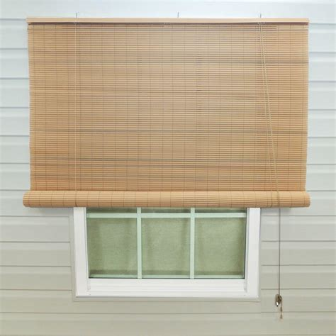 Home Depot Ceiling L Shades by Lewis Hyman Woodgrain Interior Exterior Roll Up Patio