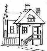 Coloring Houses Stair Pages Colouring Netart Drawing Stairs Google Line sketch template