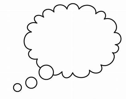 Bubble Thought Dream Outline Bubbles Cloud Clipart