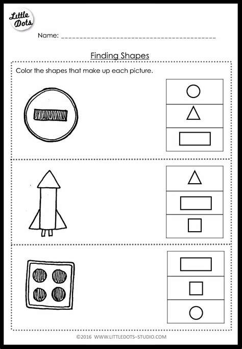 pre  math shapes worksheets  activities