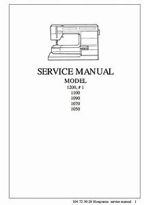 Husqvarna Viking  1    1200 Service Repair Manual  U0026 Parts