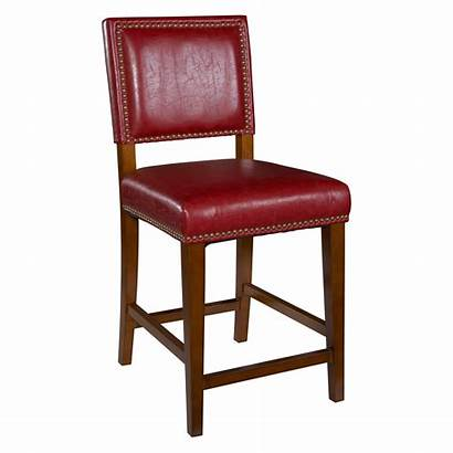Stools Counter Bar Height Stool Leather Linon