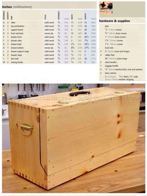 carpenters toolbox plans woodarchivist