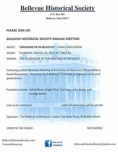 City of Bellevue » Bellevue Historical Society Annual Meeting