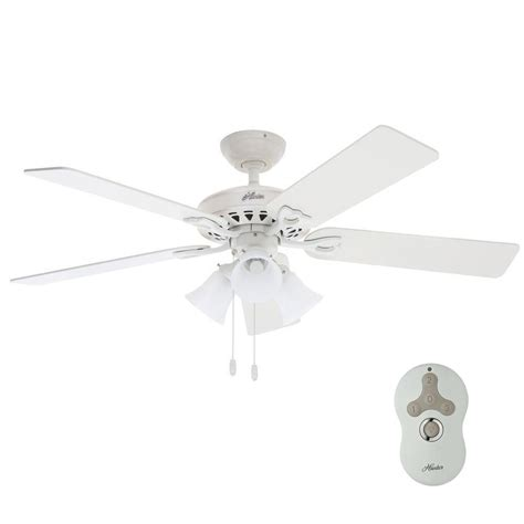 Hunter Sontera 52 In Indoor White Ceiling Fan With
