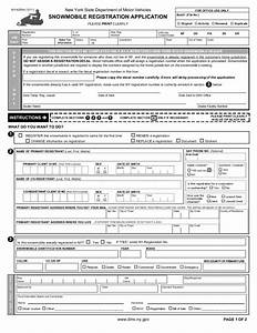Form mv 82sn snowmobile registration application new for Ny state dmv documents