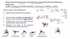 VSEPR Theory and Molecular Geometry - BF3, CH2O, HCN ...