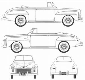 ford car blueprints die autozeichnungen les plans d With 1950s lincoln cars