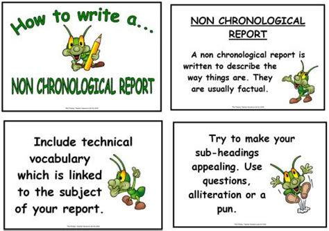 non chronological report display poster pack