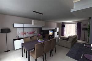 salon With awesome couleur de peinture pour une entree 13 cuisine ouverte sur salle salon et entree
