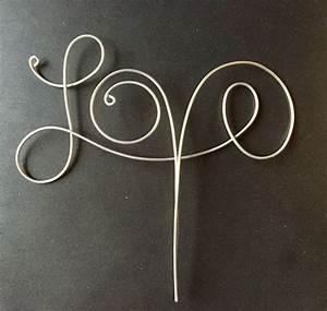 Buchstaben Aus Draht Biegen : wire love cake topper draht zus tzlich und kupfer ~ Lizthompson.info Haus und Dekorationen
