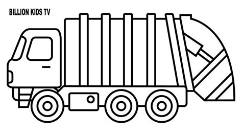 garbage truck coloring page coloring for with garbage truck