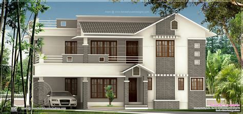 1964 square 3 bedroom exterior home kerala home