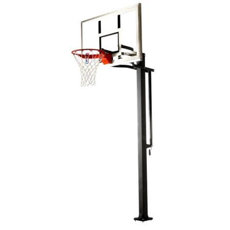 spalding   glass  ground basketball system