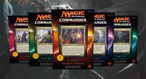 mtg sle decks 2017 magic the gathering commander 2016 photo shoot the