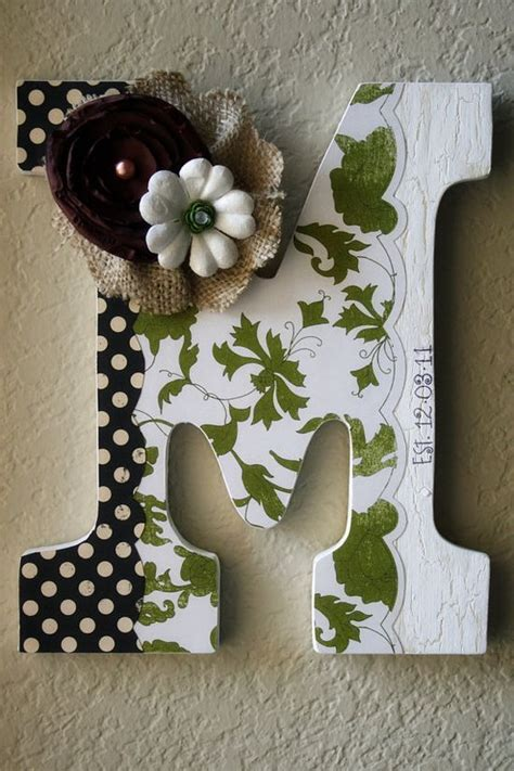 wooden letter ideas images  pinterest decorated letters creativity  bricolage