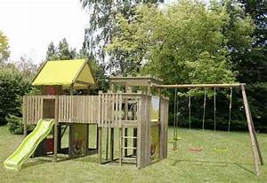 Jeux Exterieur Bois Enfant : les portiques et toboggans ~ Premium-room.com Idées de Décoration