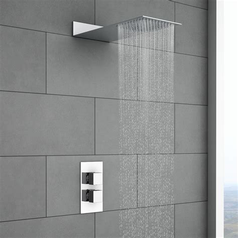 milan square shower package  valve fixed shower head