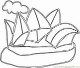 Australia Coloring Pages Sydney Opera Coloringpages101 Printable sketch template