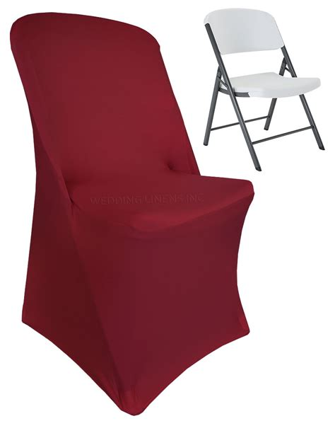 burgundy lifetime folding spandex chair covers stretch