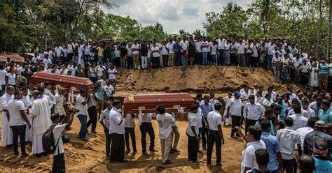 sri lankans mourn bombing victims  funerals