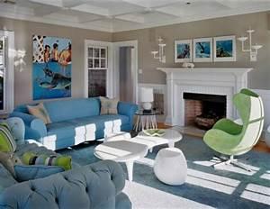 idee salon peinture 19 exemples et idees With idee peinture salon design