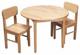 Modern Child Table And Chair Set by Gift Mark Home Kids Natural Hardwood Round Table And Chair Set Natural Finish