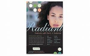 Library Brochure Templates Beauty Hair Salon Flyer Template Design