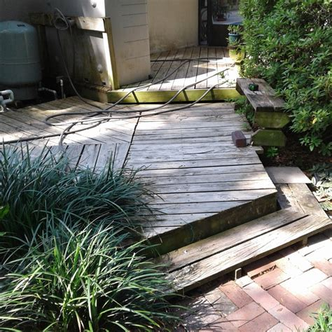 wood deck conversion  composite ryobi nation projects
